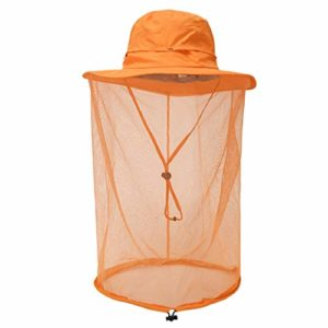 Masque de protection du visage Jungle Net moustique, chapeaux de protection solaire à large bord ultra larges, trous extra fins, écran de mouche durable et doux, sans produits chimiques ajoutés