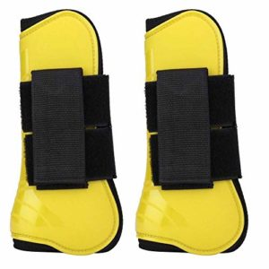 Broco 1 Paire de Saut de Cheval Jambe Protection Boot Support Wrap Équipement équestre (Jaune)