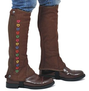 Riders Trend Enfants Uni Amara Mini Chaps en Daim, Homme, Washable Amara Plain Synthetic Suede Half Chaps, Marron Chocolat