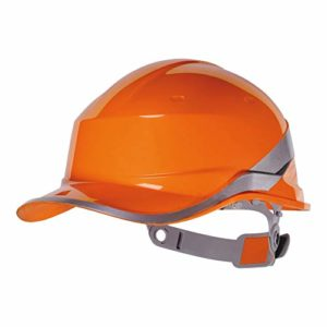 Venitex Diamond V Casque rigide de sécurité, style casque de baseball, orange