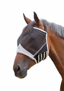 Shires Fine Mesh Earless Fly Mask Extra Full Size Black